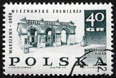 Postage stamp Poland 1968 Tomb of the Unknown Soldier, Warsaw — Stock Photo