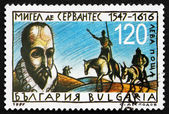 Postage stamp Bulgaria 1997 Miguel de Cervantes — Stock Photo