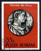 Postage stamp Romania 1975 Roman Emperor Trajan — Stock Photo