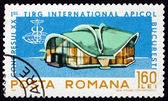 Postage stamp Romania 1965 Exhibition Hall, Apimondia — Stock Photo
