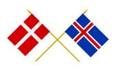 Flags, Denmark and Iceland — Stock Photo