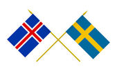 Flags, Iceland and Sweden — Stock Photo