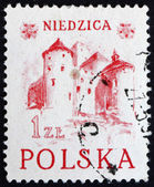 Postage stamp Poland 1952 Niedzica Castle — Stock Photo