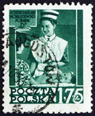 Postage stamp Poland 1953 Nurse Instructing Mother — Stock Photo