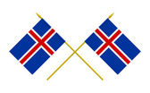 Flags, Iceland — Stock Photo