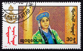Postage stamp Mongolia 1990 Scene from Mongolian-made Film — Stock Photo