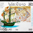 ������, ������: Postage stamp Laos 1992 Map by Paolo del Pozo Toscanelli