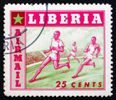 Postage stamp Liberia 1955 Running, Sport — Stock Photo