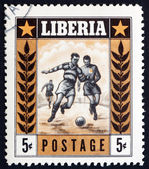 Postage stamp Liberia 1955 Soccer, Sport — Stock Photo