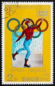 Postage stamp North Korea 1978 19th Century Skater — Stock Photo