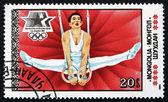 Postage stamp Mongolia 1984 Gymnastics, 1984 Summer Olympics — Stock Photo
