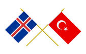 Flags, Iceland and Turkey — Stock Photo