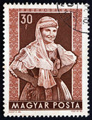 Postage stamp Hungary 1953 Woman from Ersekcsanad — Stock Photo