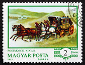 Postage stamp Hungary 1977 Mail Coach — Stock Photo