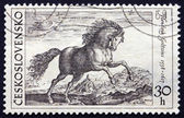 Postage stamp Czechoslovakia 1969 Prancing Stallion by Hendrik G — Stock Photo