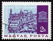 Postage stamp Hungary 1966 Old View of Buda — Stock Photo