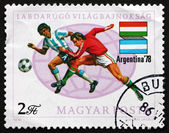 Postage stamp Hungary 1978 Soccer Players — Stock Photo