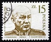 Postage stamp Poland 1987 General Karol Swierczewski Walter — Stock Photo