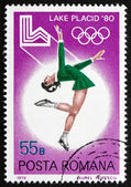 Postage stamp Romania 1979 Figure Skating — Stock Photo