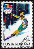 Postage stamp Romania 1992 Alpine Skiing — Foto Stock