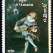 Постер, плакат: Postage stamp Cambodia 1985 St Cecilia and the Angel by Wattea
