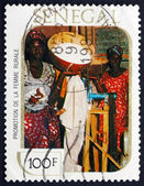 Postage stamp Senegal 1980 Rural Women Workers — Stock Photo