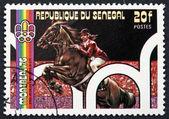 Postage stamp Senegal 1976 Equestrian — Stock Photo