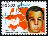 Postage stamp Nicaragua 1982 Edwin Castro Rodriguez, Poet — Stock Photo