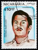 Postage stamp Nicaragua 1987 Fernando Gordillo C., Poet — Stock Photo