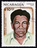 Postage stamp Nicaragua 1987 Francisco Perez Estrada, Poet — Stock Photo