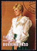 Postage stamp Burkina Faso 1997 Diana, Princess of Wales — Stock Photo