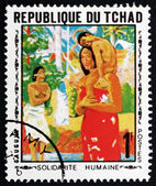 Postage stamp Chad 1969 Mother and Child, by Gauguin — Stock Photo
