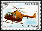 Postage stamp Vietnam 1989 MBB BO 105, Helicopter — Stock Photo