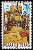 Postage stamp Mauritius 1985 Invitation and Ball of Lady Gomm — Stock Photo