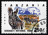 Postage stamp Tanzania 1993 Serengeti National Park — Stock Photo