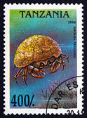 Postage stamp Tanzania 1994 Dromia Vulgaris, Crab — Stock Photo