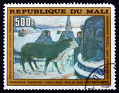 Postage stamp Mali 1980 Christmas Night, by Gauguin — Stok fotoğraf