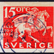 Postage stamp Sweden 1936 Mounted Courier — Stock Photo #8388918