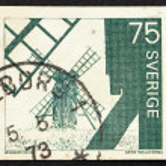 Postage stamp Sweden 1971 Windmills, Olana Island — Stock Photo #9268017