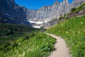 Caminata en el parque los glaciares — Foto de Stock