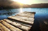 Lake and sun — Stock Photo