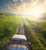 Journey by jeep — Stock Photo