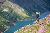 Trekking en el glaciar — Foto de Stock