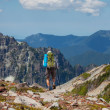 Stock Photo: Hike in North Cascades