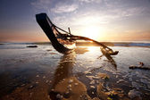 Barca su sri lanka — Foto Stock