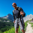 Stock Photo: Hike in Glacier Park