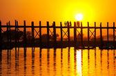 Puente en myanmar — Foto de Stock