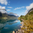 Stock Photo: Fjord in Norway