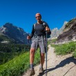 Hike in Glacier Park — Stockfoto