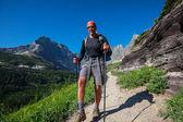 Hike in Glacier Park — Stock Photo